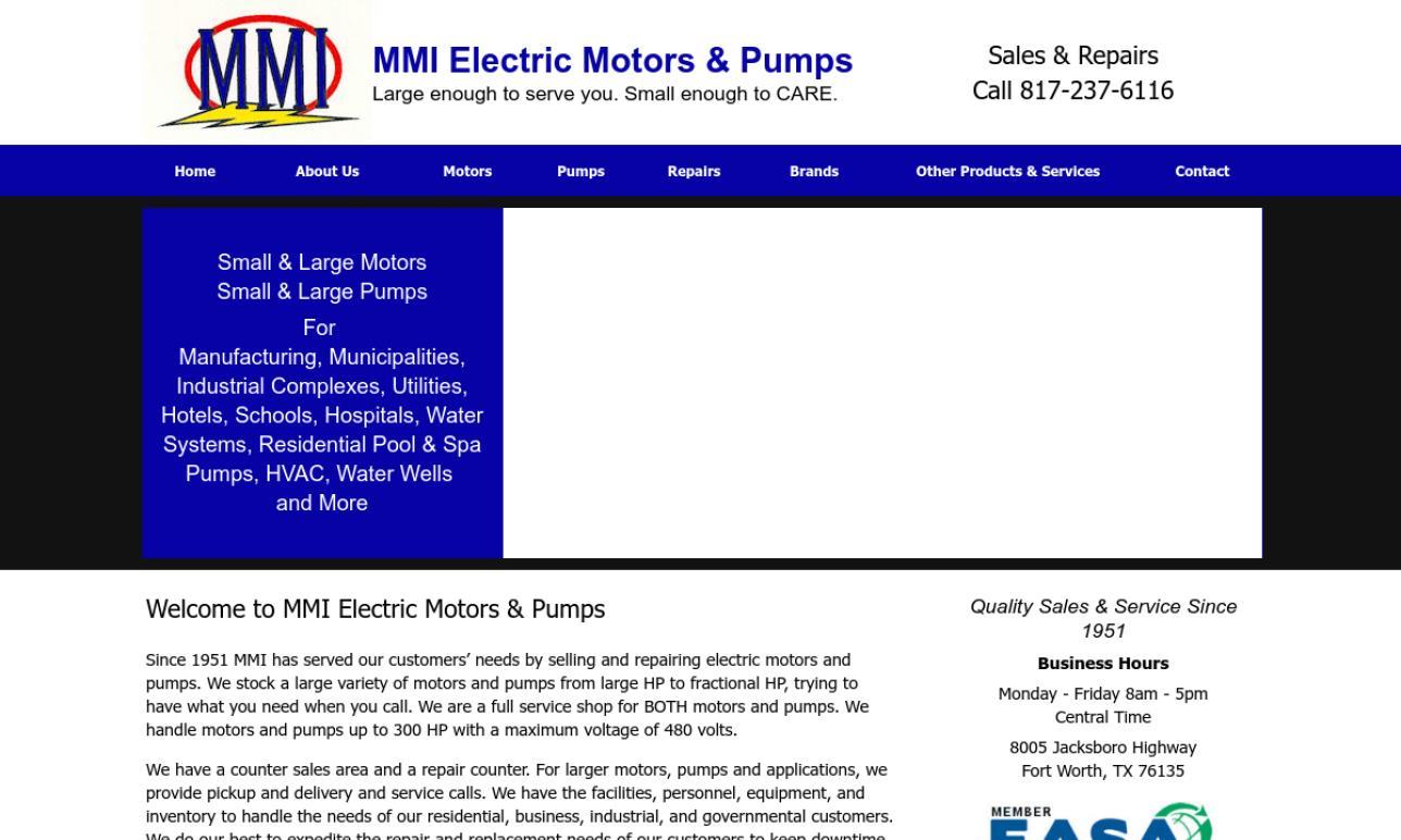MMI Electric Motors & Pumps